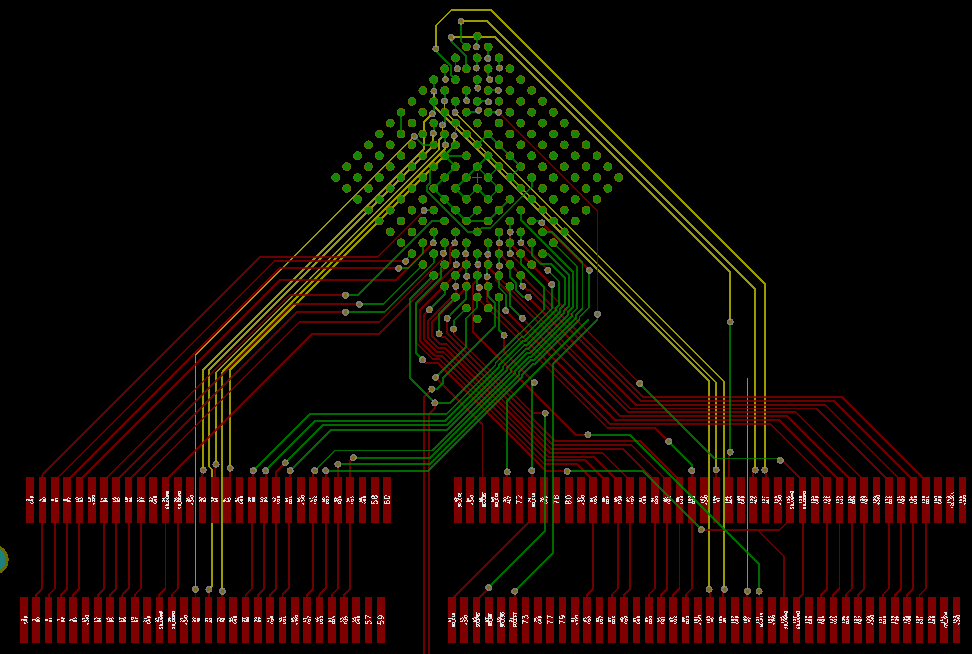 a pcb with too many traces